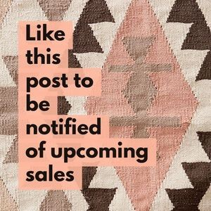 Like This Post To Be Notified Of Upcoming Sales